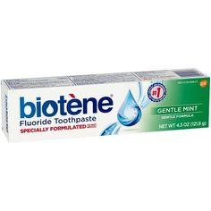 Biotene Fluoride Toothpaste, Gentle Mint Flavor, 4.3 oz, Multicolor