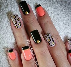 Nails Spring Nails, Summer Nails, Leopard Nails, Bright Nails, Cute Nail Art, Trendy Nails, Nail Arts, Toe Nails, Beauty Nails
