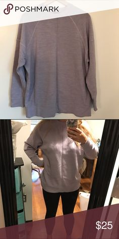 Leavender J Crew sweatshirt Lavender J. Crew sweatshirt in perfect condition! Extremely comfy! Only worn once. Slouchy fit as pictured in second photo. Has a line down the middle from being folded. J. Crew Sweaters