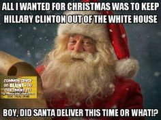 But according to Trumpites, Santa enters the country illegally, with a huge bag of stuff that TSA never checks, and enters people's residences with impunity. Because of this I don't see Santa delivering Trump as president. According to Santa's behaviors Trump would probably put him in a FEMA camp!
