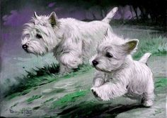 FAB Westie Art - via facebook artist ?.?.?.?.?.? ♥♥