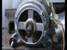 extractor mecanico casero de eje porta correas en motores de lavadora ( ...