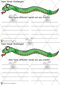 Teacher's Pet Activities & Games » Viper Vocabulary Game » EYFS, KS1, KS2 classroom activity and game resources