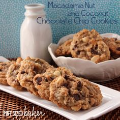 Pint Sized Baker: Macadamia Nut Chocolate Chip Cookies with Coconut - A little bit of Hawaiian Paradise in every bite!