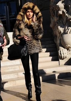 Love the furry jacket