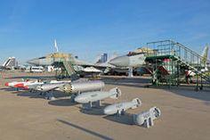 Bombas y armamento del misil para la aviación Imágenes de archivo libres de regalías