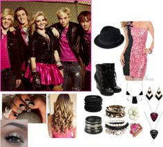 """""""if i were in R5"""" by janiris-r5 ❤ liked on Polyvore"""