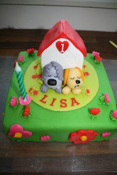 Woezel en Pip taart voor meisje 1 jaar