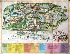 Walt Disney World map, circa 1974.