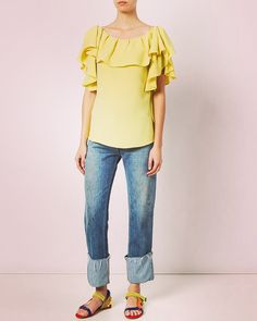 The yellow smiley #blouse #last #piece #left #buy #it #now #frills #allover #beirut #doha #israel #lebanon #limassol #cyprus