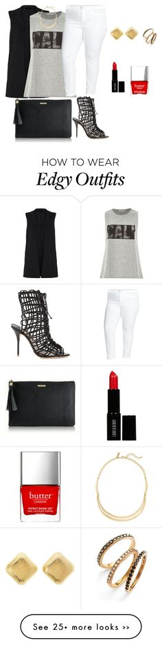 """plus size friday night out, edgy chic"" by kristie-payne on Polyvore"