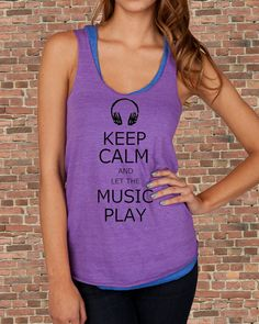 Keep Calm and Let the Music Play Carry on by BluebeardStudio, $21.00