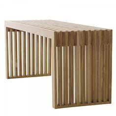 Ławeczka Cinas Rib drewno teakowe - All4home | Wyposażenie i Dekoracja Wnętrz…
