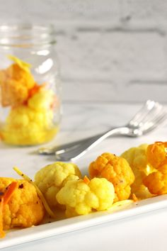 Turmeric & GInger Pickled Cauliflower|Craving Something Healthy