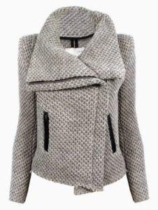 Quart coat pattern variation: transform it into a zipped biker jacket! • Pauline Alice