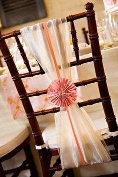 chair sash with cocktail umbrella