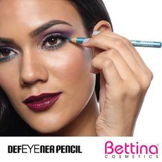 Dale color a tus ojos con uno de nuestros delineadores #Bettina DefEYEner Pencil. Su fórmula cremosa está disponible en 8 colores...#eyeliner #makeup