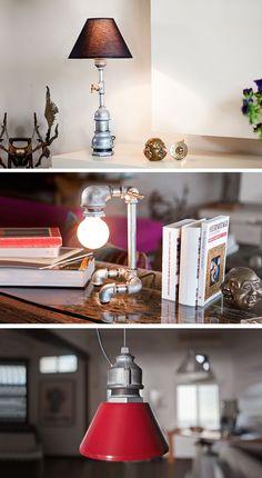 Feito usando canos convencionais a Kozo Lamp vem de Israel e tem um estilo muito bacana e cheio de personalidade. É difícil olhar para essas luminárias e não achar genial a sua simplicidade e a sua beleza.