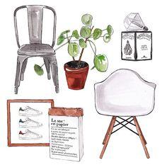 Good objects *interior design edition* the essentials #eames #tolix #pilea…