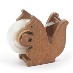 Wooden Squirrel Tape Dispenser ... wonder what the boss would say if this showed up on my desk?