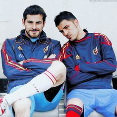St Iker and David Villa, Spain NT