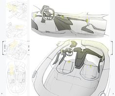 Peugeot Coupe Interior on Behance