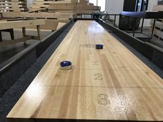 Buffing Out Shuffleboard Top After Silicone Spray Has Been Applied  #handcrafted McClure Tables Buy Silicone U0026 Shufflebou2026 | Shuffleboard Tables  For Sale ...