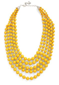 You Bijou Necklace in Saffron. Express your signature style by accessorizing your sheath dress with this bright yellow statement necklace! #yellow #modcloth