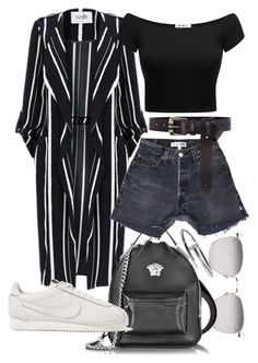 """Untitled #22091"" by florencia95 ❤ liked on Polyvore featuring Linda Farrow, Karen Millen, Versace and NIKE"