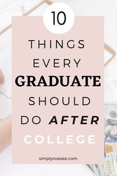 Your whole life might has always been planned for you and now it's your turn to take over, but you might be unsure on where to start as a recent graduate.   Here are 10 things you should do after graduating from college:  #graduate #college #postgraduation College Life Hacks, College Tips, College Fun, College Students, Mature Student, Student Life, Make Friends In College, University Tips, College Motivation