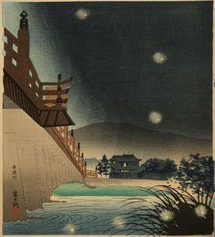 The Fireflies of Uji River / From portfolio: The Fifteen Views of Kyoto / Woodblock / Japanese / Printmaking / Art / Decor