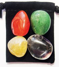 MANIFEST BUSINESS SUCCESS Tumbled Crystal Healing Set 4