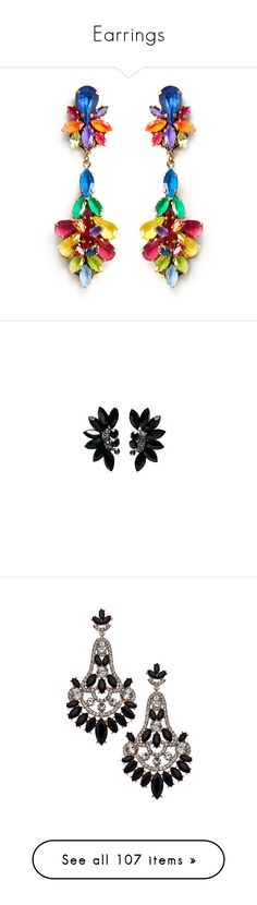 """""""Earrings"""" by giulia-avenue ❤ liked on Polyvore featuring jewelry, earrings, erickson beamon earrings, crystal flower earrings, flower earrings, crystal stone jewelry, flower jewelry, accessories, brincos and earring jewelry"""