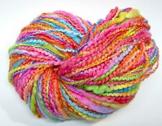 Bulky rainbow yarn in handpainted thick and thin by TheGingkoLeaf, $19.20