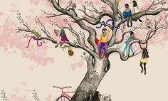 heartbeats project art of girls climbing tree