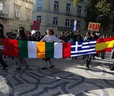 Huelga en Europa, participan: España, Italia, Grecia y Portugal Portugal, Greece, Europe, Italia