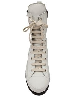 big sale beaa3 751f3 ANN DEMEULEMEESTER - Nabuk hi-top shoe 3 These are so sexy. Clothes 2018