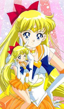 Sailor Venus (セーラーヴィーナス Sērā Vīnasu?) is a fictional lead character in the Sailor Moon media franchise. The alternate identity of Minako Aino (愛野 美奈子 Aino Minako?, or Mina Aino in the English adaptations), a teenage Japanese schoolgirl, she belongs to the Sailor Senshi, female supernatural fighters who the franchise's main girl characters transform into to fulfill their duty of protecting the Solar System and the franchise's eponymous protagonist from evil.