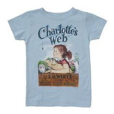 Charlotte 39 s web t shirt from out of print a book is for T shirt printing in charlotte nc