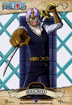 One Piece - Spandam by OnePieceWorldProject.deviantart.com on @DeviantArt