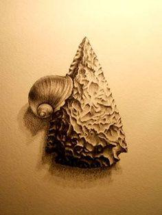 "Saatchi Art Artist Gavin Porter; Drawing, ""Fine Knapping"" #art"