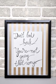 Inspiration--->DIY Washi Tape Frame Mats to add life to those inspirational quotes on the wall