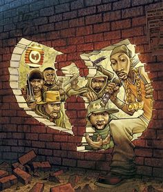 Wu-Tang Clan - cool art work. Where do i start with these 9 NY brothas! Sick flow, awesome melody's, original...like often imitated never duplicated. Wu tang forever!