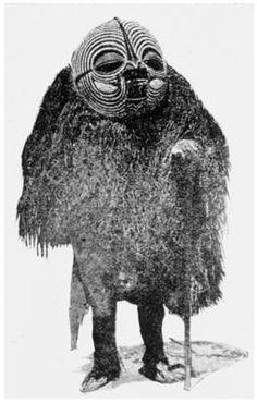 Publication: 1913. Colle, Pierre. Les Baluba (Congo Belge), Vol. II.  Original language: French  Caption translation: Sorcerer Dancer (Kif...