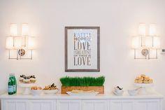 Our Faith, Hope, & Love Poster creates a wonderful backdrop for your juice bar.