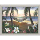 Twilight Hammock by Scott Westmoreland ~ beach palm trees sunset plumeria tropical art Seascape Paintings, Landscape Paintings, Beach Paintings, Rose In A Glass, Murals Your Way, Hawaiian Art, Disney Artists, Tropical Art, Tropical Plants