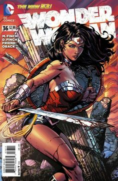 The cover to Wonder Woman #36 (2014), art by David Finch, Richard Friend, & Sonia Oback
