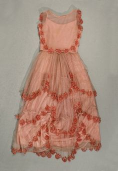 Rose themed dress for a garden party - Woodland Tea Party