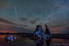 The night of the Camelopardalid meteors shower over Mono Lake in California on May 24, 2014. Photo/Cat Conner EarthSky mag.
