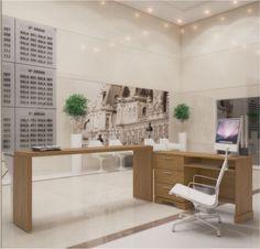 Conjunto para escritório / Linha Daphne - Carvalho escovado
